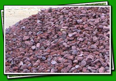Lawn works landscaping lava rock for Different color rocks for landscaping